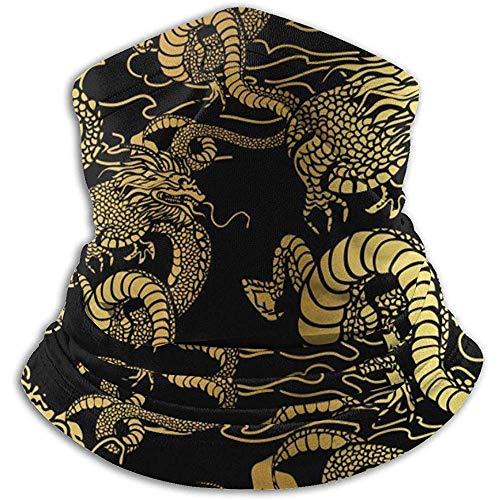 Mascarilla Para Mujer Dragón Chino Japonés Cuello Polainas Calentador Unisex Círculo Cálido Bufandas De Bucle Para Deportes De Invierno Al Aire Libre