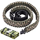 2. SOMA Gun Sling Paracord 550lb 2 Point Adjustable Strap for Tactical Rifle or Shotgun 4 Colors (CAMO)