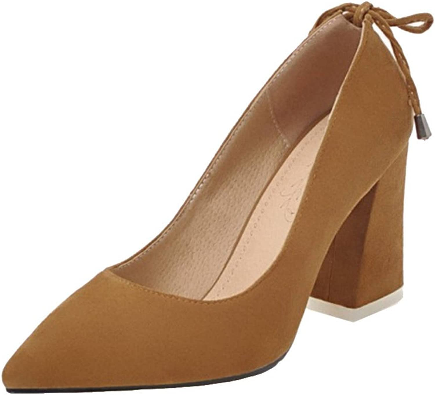 SJJH Women Pumps with 7-colors and Large Size Available Nubuck Working shoes for OL