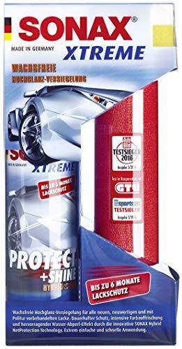 SONAX XTREME Protect+Shine Hybrid NPT (210 ml) wachsfreie Hochglanz-Versiegelung für alle neuen, neuwertigen und mit Politur vorbehandelten Lacke | Art-Nr. 02221000