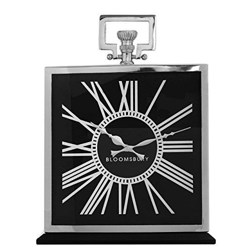 Premier Housewares Kensington wandklok, metaal, zwart, 33 x 8 x 42 cm