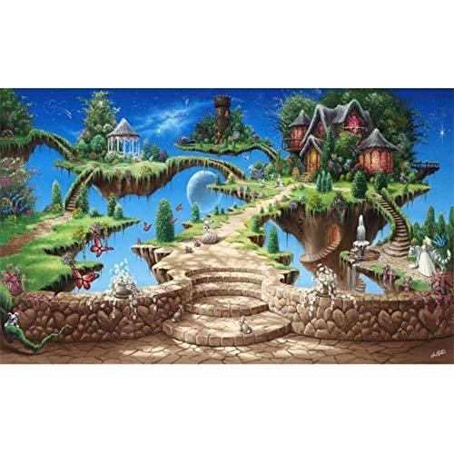 Papel tapiz mural 3d Pegatinas de pared para dormitorio de la salaEstéreo de dibujos animados Cuento de hadas Castillo Parque de atracciones para niños Telón de fondo Pintura de pared Fresco