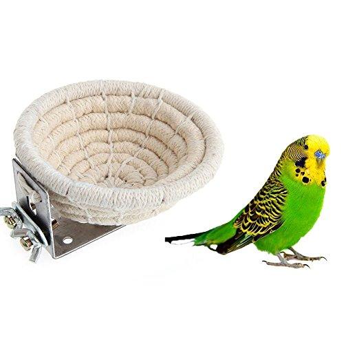 Hypeety Handmade Cotton Rope Bird Breeding Nest Bed for Small Parrots Budgie Parakeet Cockatiel Parakeet Conure Canary Finch Lovebird