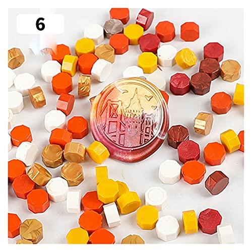 JSJJAWS Sello de Cera Juego de Caja de Sello de Cera DIY Sello Desmontable Conjunto de Cuchara Sello de Sellado Retro Sello de Cera Sello de fusión sobre Regalos de Boda (Color : 100pcs 2Bags 04)