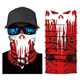 SRVOKOX Punisher Zombie Seamless Tube Neck Gaiter Face Mask Covering Bandanas for Men Women Summer Cooling UV Face Scarf Mask Cover Magic Balaclava for Fishing Running Hunting Cycling Hiking