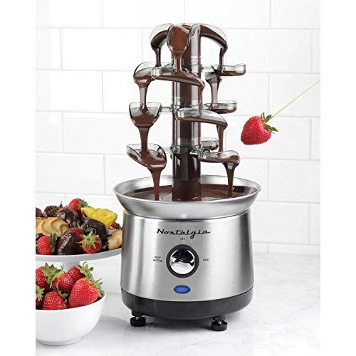 Chocolate Fondue Fountain Stainless Steel 4 Tiers Commercial New Luxury Tier Hot Capacity Pound Party