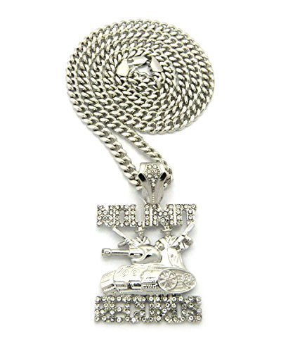 Crescendo SJ INC New ICED Out NO Limit Records Pendant &5mm/24 Cuban Chain Necklace - XZ118CCR