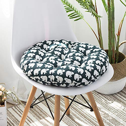D&LE 100% Coton Rond Coussins Tatami Épais Imprimer Couvert Booster Coussin de siège Respirante Douce Office Fauteuil Chaise de Jardin Coussins de-A 40x40x8cm