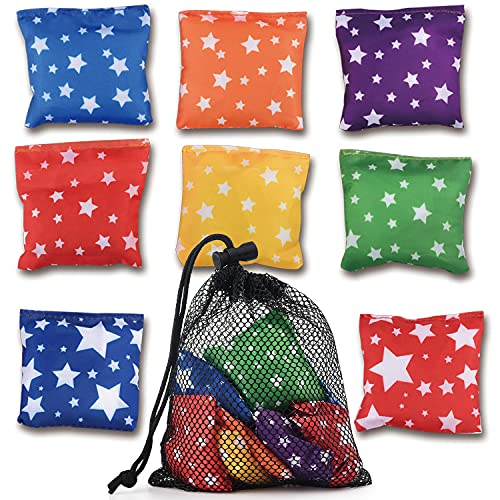 RaboSky Small Bean Bags for Tossing Game, Funny Mini Beanbags Toy for Preschool Kids Cornhole Toss Indoor or Outdoor, Cool Toddlers Game for Birthday Parties, Classroom, Christmas, Easter, Carnival