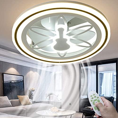 Invisible Luz del Ventilado de Techo LED Regulable Moderna Iluminación de Techo con Mando a Distancia Ultra Silencioso Ventiladores de Techo, Velocidad del Viento Ajustable, para Dormitorio Salón