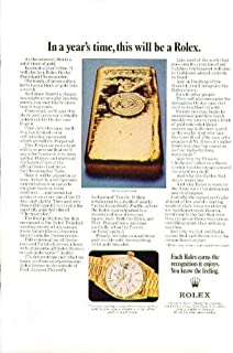 In a year's time this will be a Rolex Watch ad 1970