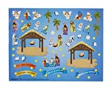 Create Your Own Nativity Sticker Christmas Ornament Classroom Activity Craft Kit, Pack of 36
