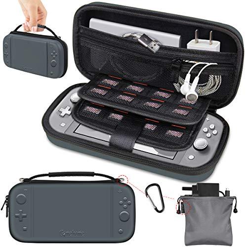 GameHome Custodia Compatibile con Nintendo Switch Lite, Custodia Protettiva Rigida con 16 Cartucce di Gioco Custodia da Trasporto Compatibile per Nintendo Switch Lite Console e Accessori (Grigio)