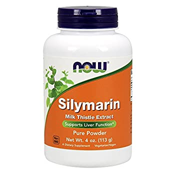 NOW Supplements Silymarin Milk Thistle Extract Pure Powder Supports Liver Function* 4-Ounce
