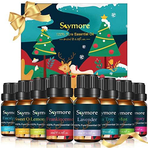 Skymore Naturreine Ätherische Öle Set, Pure Duftöle Set Für Diffuser (Zitronengras, Lavendel, Teebaum, Eukalyptus, Orange, Minze), Perfekt für Geschenk