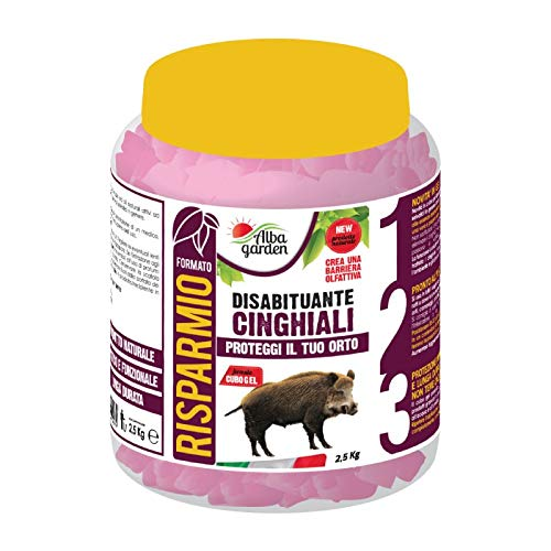 Albagarden - Disabituante Repellente BARRIERA CINGHIALI dissuasore 100% naturale animali selvatici istrici cubo gel - No Recinzioni - x 2,5 Kg