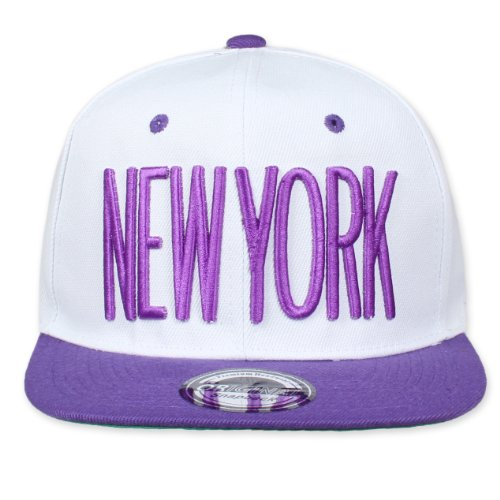 Original Snapback (One size, New York City Blanc/Violet) + Original My CHICOS – Stickers