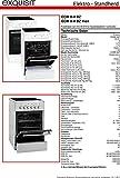 Exquisit Standherd ECM 8-4 BZ Inox | Elektro-Standherd | Glaskeramik-Kochfeld | 46 Liter Garraum | edelstahl - 4