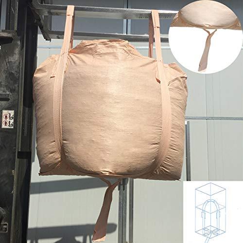 "PUNCIA New PP FIBC Bulk Big Bag Super Sack Jumbo Bag 2200LB (1T) 34.4""L x 34.4""W x 43""H Safety Coefficient: 3:1 for Industrial Farm Storage and Transfercation (1 Pack)"