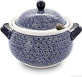 Bunzlauer Keramik Suppenterrine, Ø=31.2 cm, H=22.90 cm, V=4.5 Liter, Dekor 120