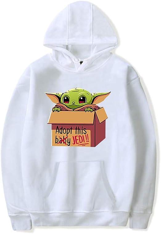 NBWS Baby Yoda Mandalorian Cartoon Hoodie voor Lange Mouw