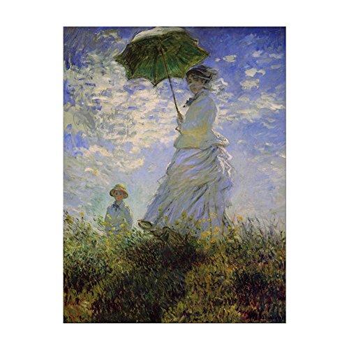 Kunstdruck Poster - Claude Monet Frau mit Sonnenschirm 30x40 cm ca. A3 - Alte Meister Bild ohne Rahmen