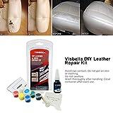 DIY Leather and Vinyl Repair Kit Auto Car Seat Coats Sofa Holes Scratch