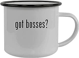 got bosses? - Stainless Steel 12oz Camping Mug, Black