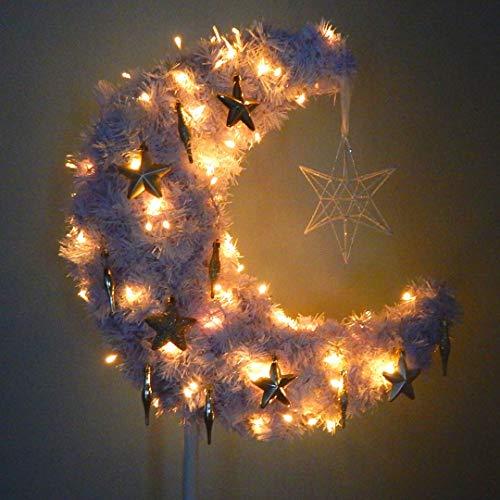Peacock Supplies - 3ft Eid Moon Tree & LED lights - White