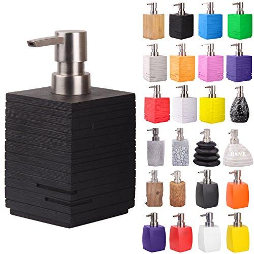 Seifenspender | viele schöne Seifenspender zur Auswahl | elegantes, stylisches Design | Blickfang für jedes Badezimmer (Calero Black)