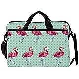 TIZORAX Laptop-Umhängetasche, nahtlos, Flamingo-Tapete, Computerhülle, Notebook-Tragetasche, 15-15,4 Zoll Handtasche