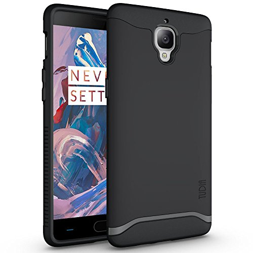OnePlus 3T / OnePlus 3 Case, TUDIA Slim-Fit Heavy Duty [Merge] Extreme Protection/Rugged but Slim Dual Layer Case for OnePlus 3T, OnePlus 3 (Matte Black)