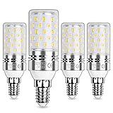 HZSANUE E14 Bombillas Maíz LED 12W, Tornillo Edison Bombilla, 3000K Blanco Cálido, 1200LM, Bombillas Incandescentes de 100W Equivalentes, No Regulable, Paquete de 4
