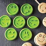 Cuigu 7-teiliges Gesicht, Emoji-Form für Kekse, Schokolade, für Zuhause, Backwerkzeug