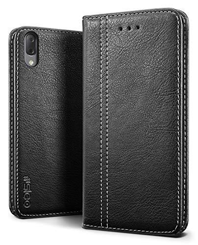 SLEO Hülle für Sony Xperia L3 Hülle,Retro Leder Brieftasche Shell Standfunktion LederHülle für Sony Xperia L3 Hülle Cover