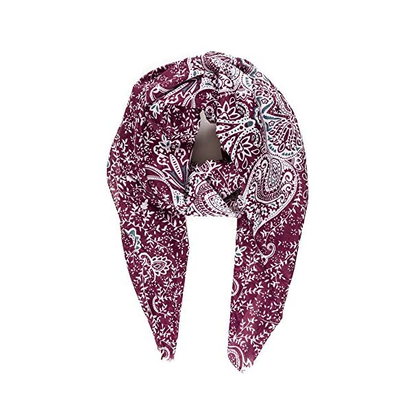Scarf for Women Lightweight Floral Flower Scarves for Spring Summer Shawl Wrap