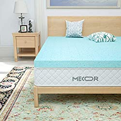 "Mecor 4 Inch 4"" 100% Gel Infused Memory Foam Mattress Topper"