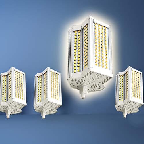 50W R7S 118mm LED Bombilla de Doble extremamiento Doble con Doble Extremo 4000K AC110-240V FLUYIVE Equivalente A 500W Halogen JARDÍN PATORTYARD Flujo DE Piel