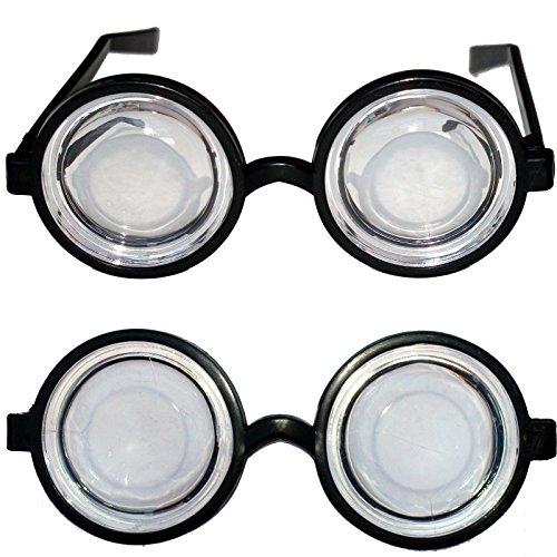 Spassprofi 2 x Doofi Brille Scherzartikel Unisex Brillen Doofibrille Nerd Nerdbrille Komplettbrille