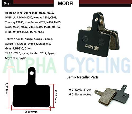 Sin logotipo CXZA Pastillas de freno de bicicleta para Shimano B01S MT200, M575/M525/M515/M495 y Tektro Drako/HDC-300/Auriga Comp Gemini Disc Brake