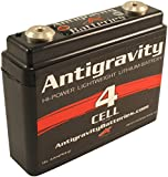 Antigravity Batteries - Lightweight Motorcycle Lithium Ion Battery - Small Case 4 Cell AG401-16 Ounces - 120 CCA - Kicker Chopper Bobber Cafe Racer Harley