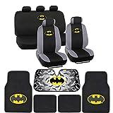 BDK C1304 Batman Seat Cover & Carpet Floor Mats & Sun Shade for Car...