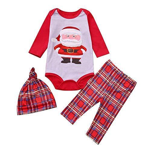 Ahomi herfst 2 stuks ouder-kind kerstpyjama's set lange mouwen print tops + broek