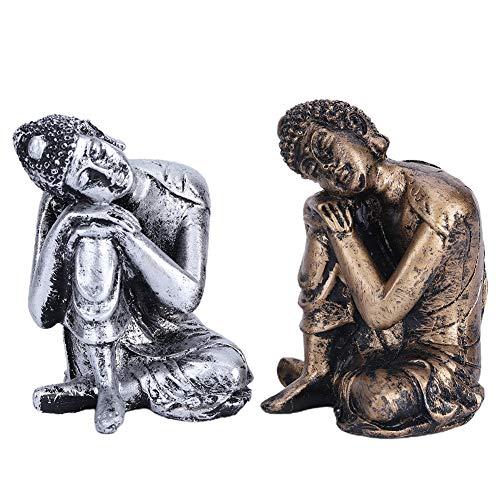 Junluck Oggettistica per la casa Artigianato Accessori buddisti Decorazione Meditazione Seduta Buddha in Riposo Buddha dormient