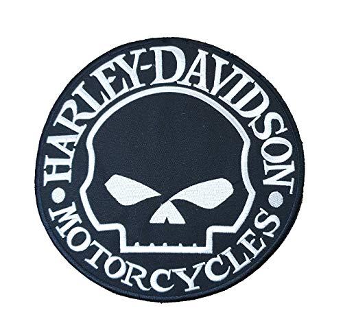 Harley Davidson Skull Circular Black – bestickter Motorrad/Biker Patch