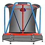 Zupapa Small Trampolines with Basketball Hoop Indoor Mini Trampoline...