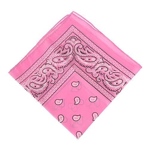 Bandana Halstuch Biker 1er 3er 6er 12er Pack Nikki Tuch Schal Paisley Kopftuch 100% Baumwolle 16 Farben(pink)