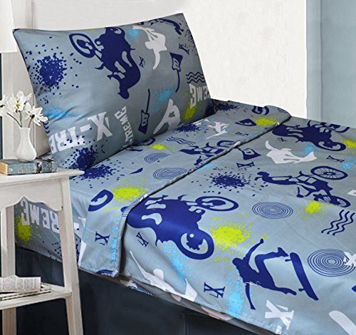 All American Kids'X-TremeSports 3-Piece Twin SheetSet | Matching Comforter Set &Curtain Set Available!