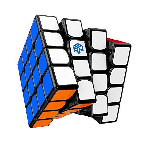 GAN 460 M, 4x4 Cubo Mágico Speed Puzzle de Gans Magnético Cube 460M (Negro con Stickers)