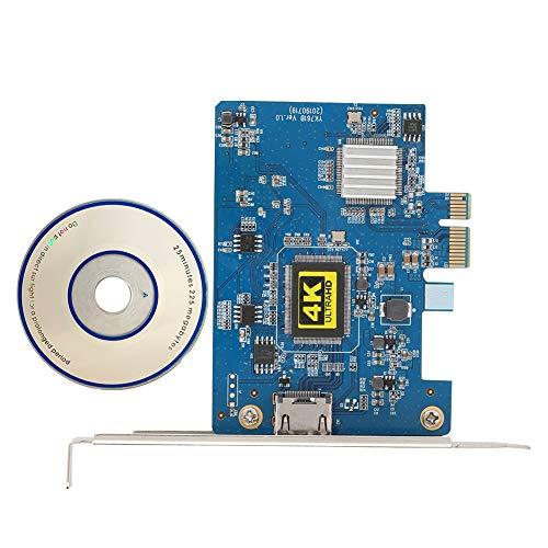 Goshyda Scheda di Acquisizione Video, Scheda di Acquisizione Audio Ad Alta Definizione PVC PCI-E a HDMI, Supporto 4K 30Hz, per Windows XP SP2, per Vista, per Win7/8